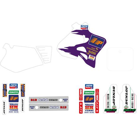 _Tecnosel Sticker Kit Replica Team Honda Maddii 1995 CR 125 95-97 CR 250 95-96 | 21V07 | Greenland MX_
