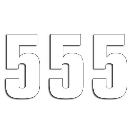 _Blackbird Vinyl Numbers # 5 Whiite (16 x 7,5 cm)   5048-10-5   Greenland MX_