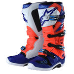 _Troy Lee Designs Alpinestar TECH 7 Boots Red Fluo/White/Blue | 9391984300 | Greenland MX_