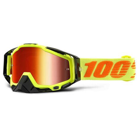 _100% Racecraft Attack Goggles Yellow Fluor Mirror | 50110-026-02 | Greenland MX_