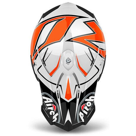 _Airoh Terminator Open Vision Shock Orange Gloss Helmet 2018 | TOVSH32 | Greenland MX_