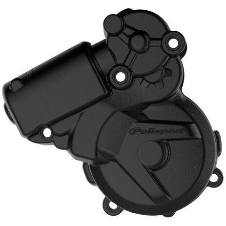 _KTM EXC 250/300 11-16 Husqvarna TE 250/300 14-16 Ignition Cover Protector Polisport Black | 8464300001 | Greenland MX_