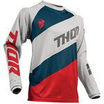 _Thor Sector Shear Jersey Gray/Red | 2910-4895-P | Greenland MX_