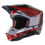_Alpinestars S-M5 Beam Helmet Black/Gray | 8303622-1313 | Greenland MX_