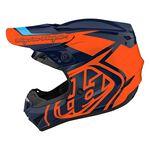 _Troy Lee Designs GP Overload Youth Helmet Navy/Orange | 104252003-P | Greenland MX_