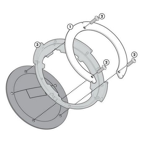 _Givi Specific Flange for Tanklock Bags | BF25 | Greenland MX_