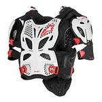 _Alpinestars A-10 Full Chest Protector White/Black/Red | 6700517-213-P | Greenland MX_