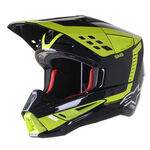 _Alpinestars S-M5 Beam Helmet Black/Fluo Yellow | 8303622-1151 | Greenland MX_
