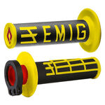 _ODI MX Lock On V2 Emig 2/4 ST Grips Black/Yellow | H36EMBY | Greenland MX_