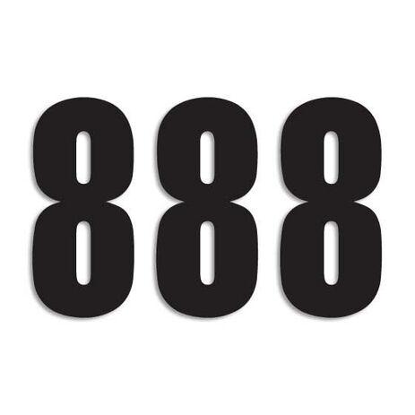 _Blackbird Vinyl Numbers # 8 Black(13 x 7 cm)   5047-20-8   Greenland MX_