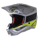 _Alpinestars S-M5 Bond Helmet Silver/Fluo Green | 8303422-1956 | Greenland MX_