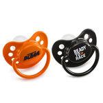 _Pair Of KTM Baby Pacifier Orange & Black   3PW1770700   Greenland MX_