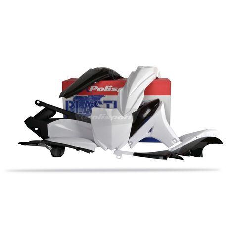 _Polisport  Yamaha YZ 450 F 10-13 Plastic Kit White   90262   Greenland MX_