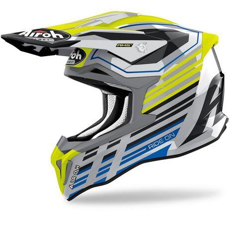 _Airoh Strycker Shaded Helmet Gloss | STKSH31-P | Greenland MX_