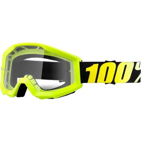 _100% Strata Neon Goggles Yellow Fluor   50400-004-02   Greenland MX_