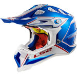_LS2 MX470 Subverter Helmet Power Chrome Blue | 404702626 | Greenland MX_