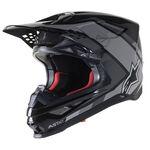 _Alpinestars Supertech M10 Meta 2 Helmet Black/Gray | 8300222-1195 | Greenland MX_
