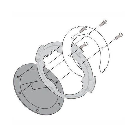 _Givi Specific Flange for Fitting Tanlock Bags Ducati/BMW/KTM   BF11   Greenland MX_