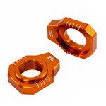 _Zeta KTM SX/SXF 13-.. Rear Axle Block Orange | ZE93-5417 | Greenland MX_