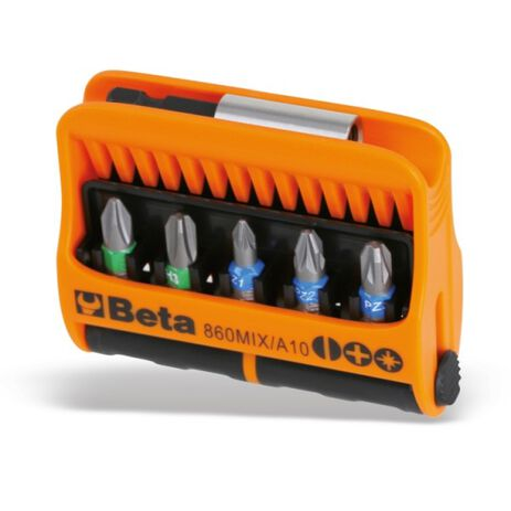 _Beta Tools Set of 10 Bits with Magnetic Bit Holder   860MIX-A10   Greenland MX_