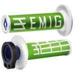 _ODI MX Lock On V2 Emig 2ST Grips Green/White | H32EMNW | Greenland MX_