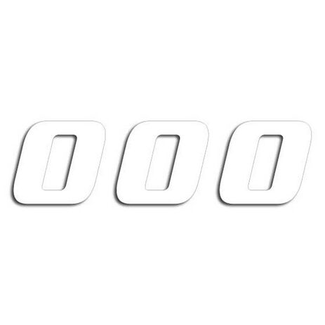 _Numbers White # 0 (20 x 25 cm) | 5049-10-0 | Greenland MX_