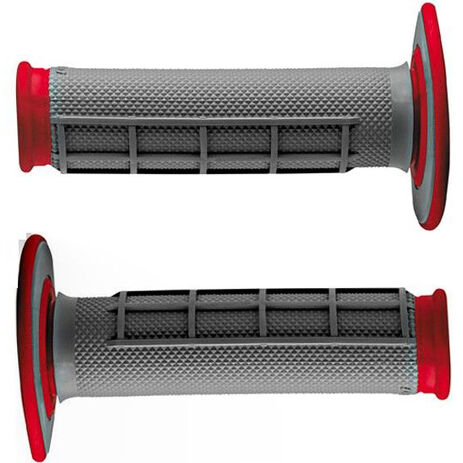 _Renthal dual half waffle medium grips red | G156 | Greenland MX_