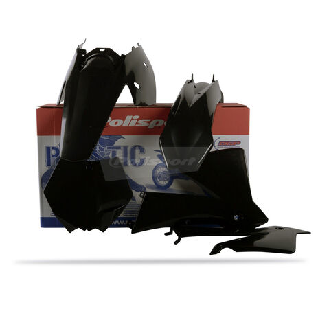 _Polisport KTM SX 03-04 EXC/EXCF 04 Plastic Kit Black | 90194 | Greenland MX_