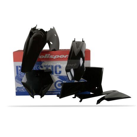 _Polisport KTM SX 05-06 EXC/EXC-F 05-07 Plastic Kit Black | 90195 | Greenland MX_