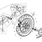 _Rear Wheel | GGEC2512-16 | Greenland MX_