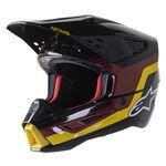 _Alpinestars S-M5 Venture Helmet Black/Burgundy | 8305022-1358 | Greenland MX_