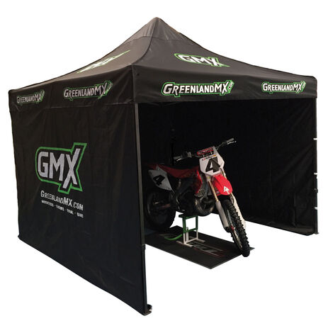 _Gnerik Reinforced Tent 3 x 3 with 3 walls Black GMX | GK-3X3ANGMX-P | Greenland MX_