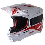 _Alpinestars S-M5 Bond Helmet White/Red | 8303422-2032 | Greenland MX_