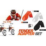 _4MX Fender adapter set KTM EXC 08-13 SX 07-12 a 2014 black | KT-AGD-KTMB | Greenland MX_