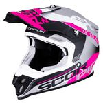 _Scorpion VX-16 Air Arhus Mate Helmet Grey/Pink | 46-266-219 | Greenland MX_