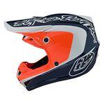 _ Troy Lee Designs SE4 Corsa Youth Helmet Navy/Orange | 112133003-P | Greenland MX_