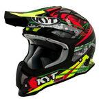 _KYT Strike Eagle Web Helmet Black/Red | KYT-YSEA0016 | Greenland MX_