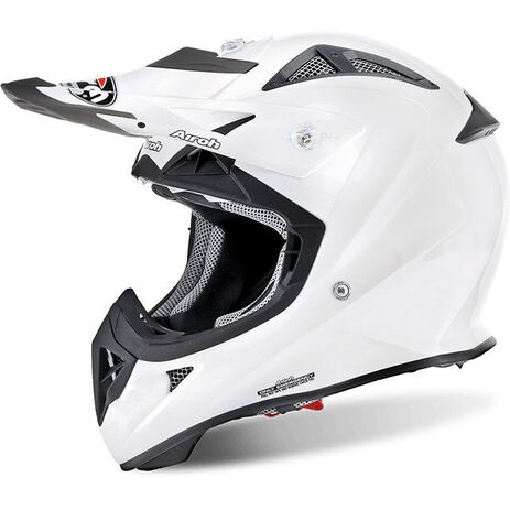 _Airoh Airoh J. White Gloss Helmet Youth | AVJ14 | Greenland MX_