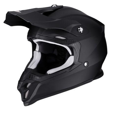 _Scorpion VX-16 Air Helmet Black Matt | 46-100-10 | Greenland MX_