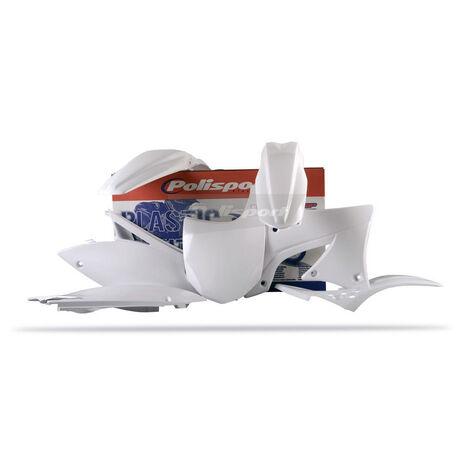 _Polisport Kawasaki KX 450 F 09-11 Plastic Kit White | 90217 | Greenland MX_