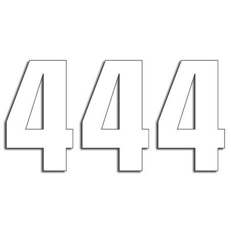 _Blackbird Vinyl Numbers # 4 White (16 x 7,5 cm)   5048-10-4   Greenland MX_