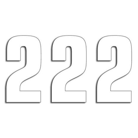 _Blackbird Vinyl Numbers # 2 White (13 x 7 cm) | 5047-10-2 | Greenland MX_