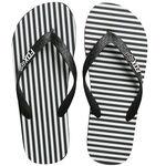 _Fox Jail Break Beach Sandals Black/White | 21243-018-P | Greenland MX_