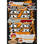 _4MX Assorted Stickers KTM | 01KITA606KTM | Greenland MX_