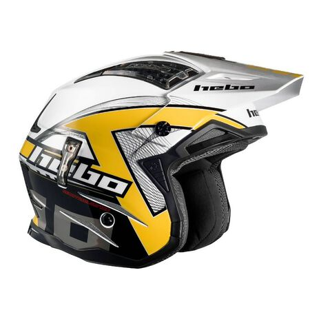 _Hebo Zone 4 Kontrox Trial Helmet Yellow | HC1025Y | Greenland MX_