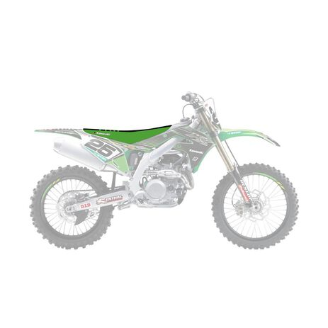 _Blackbird Double Grip 3 Kawasaki KX 450 F 19-.. Seat Cover | 1433H | Greenland MX_