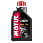 """_<p style=""""line-height: normal;""""><strong>Motul Fork Oil FL Light 5W&nbsp;</strong></p> <p>Hydraulic fluid for racing applications specially formulated for SHOWA, KAYABA, OHLINS, WP forks, and any type of upside/down or conventional telescopic fork.</p> <ul> <li>Reduced internal friction, specially fork tubes and seals thanks to the exclusive anti-friction additive<br />designed and developed by MOTUL.</li> <li>Outstanding suspension performance as soon as riding and maintained performance in the time.</li> <li>High performance anti-foam avoiding air transfer to the air chamber to maintain suspension<br />performance.</li> <li>Anti-wear and extreme pressure properties.</li> <li>Anti-corrosion.</li> <li>Seals protection.</li> </ul> 