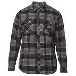 _Fox Traildust Flannel Shirt Black | 22065-374-P | Greenland MX_