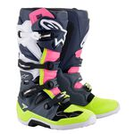 _Alpinestars Tech 7 Boots Dark Gray/Dark Blue/Pink Fluo | 2012014-9076-P | Greenland MX_