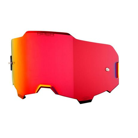 _100% Armega Hiper Lens Red Mirror | 51041-033 | Greenland MX_